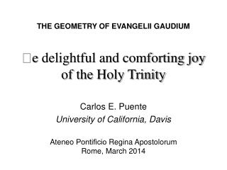  e  delightful and comforting joy of the Holy Trinity