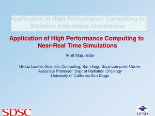 Application of High Performance Computing to Situation Awareness Simulations