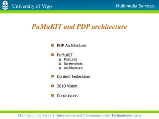 PuMuKIT and PDP architecture