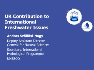UK Contribution to International Freshwater Issues
