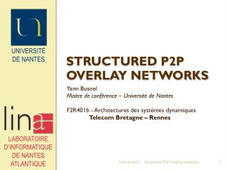 Structured  P2P overlay networks