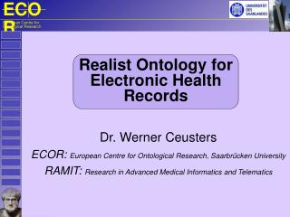 R ealist  O ntology  for Electronic Health Records
