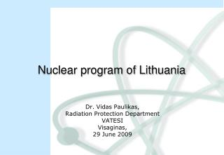 Nuclear program of Lithuania