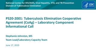 Stephanie Johnston, MS Team Lead/Laboratory Capacity Team