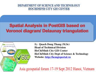 Spatial Analysis in  PostGIS  based on  Voronoi  diagram/ Delaunay triangulation