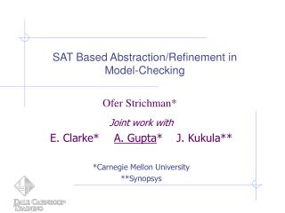 SAT Based Abstraction/Refinement in  Model-Checking