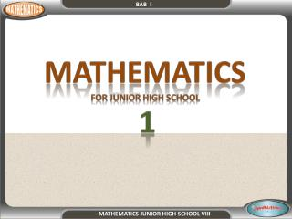 MATHEMATICS  FOR JUNIOR HIGH SCHOOL