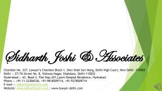 Sidharth  Joshi & Associates