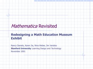 Mathematica  Revisited