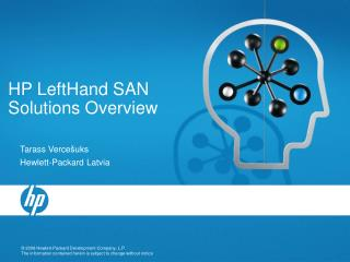 HP LeftHand SAN Solutions Overview