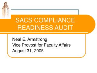 SACS COMPLIANCE READINESS AUDIT