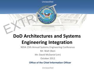 DoD Architectures and Systems Engineering Integration
