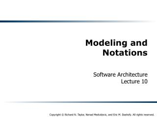 Modeling and Notations