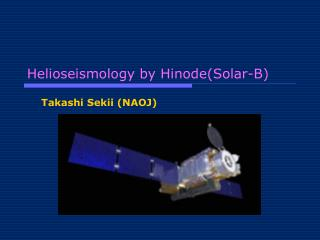 Helioseismology by Hinode(Solar-B)