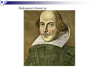 Shakespeare's Sonnet 29