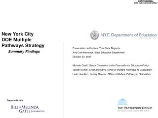 New York City DOE Multiple Pathways Strategy