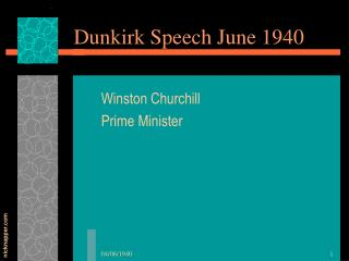 Dunkirk Speech June 1940