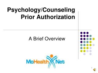 Psychology/Counseling Prior Authorization