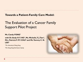 Towards a Patient-Family Care Model: The Evaluation of a Cancer Family Support Pilot Project