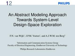 An Abstract Modeling Approach Towards System-Level Design-Space Exploration