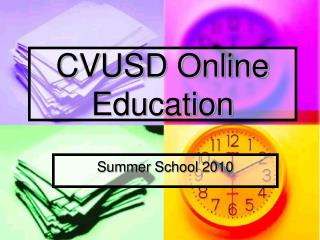 CVUSD Online  Education
