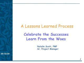 A Lessons Learned Process