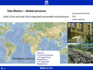 Tata Motors – Global presence