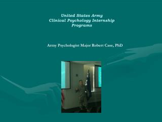 United States Army Clinical Psychology Internship Programs