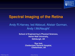Spectral Imaging of the Retina