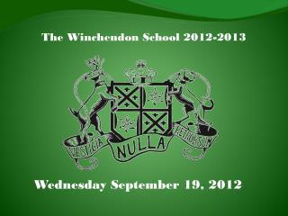 The Winchendon School 2012-2013