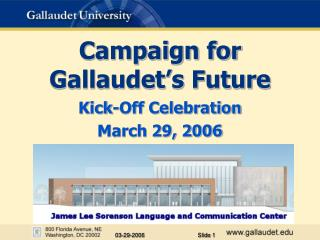 Campaign for  Gallaudet's Future