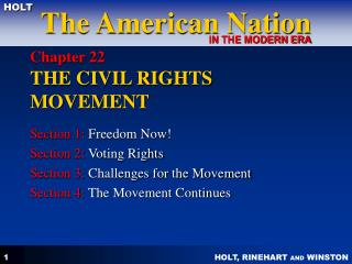 Chapter 22  THE CIVIL RIGHTS MOVEMENT