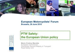 Maria Cristina Marolda European Commission Directorate General Mobility & Transport