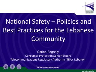 National  Safety – Policies and Best Practices for the Lebanese Community