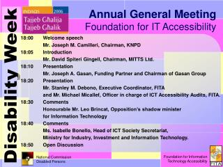 Annual General Meeting Foundation for IT Accessibility