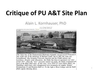 Critique of PU A&T Site Plan