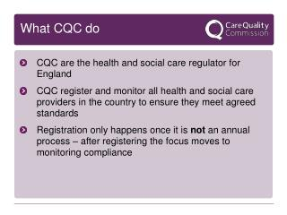 What CQC do