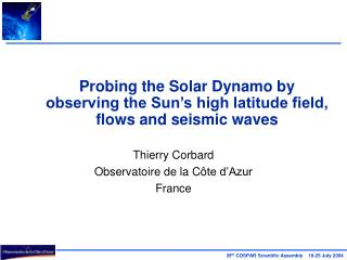 Probing the Solar Dynamo by observing the Sun's high latitude field, flows and seismic waves