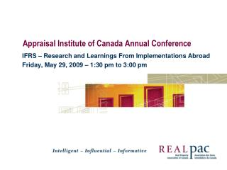 Appraisal Institute of Canada Annual Conference