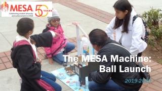The MESA Machine: Ball L aunch