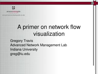A primer on network flow visualization