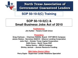 SOP 50-10-5(C) &  Small Business Jobs Act of 2010