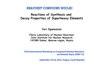 Reactions of Synthesis and  Decay Properties of Superheavy Elements