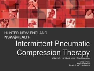 Intermittent Pneumatic Compression Therapy