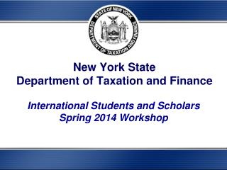 New York State  Department of Taxation and Finance