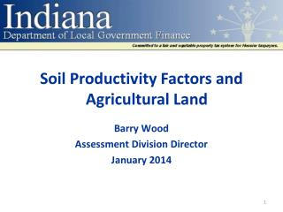 Soil Productivity Factors and Agricultural  Land