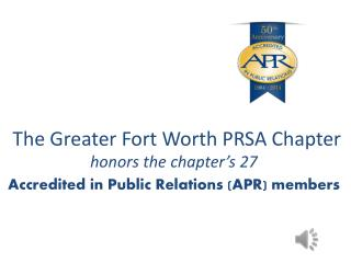The Greater Fort Worth PRSA Chapter