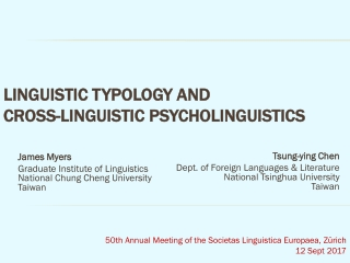 Psycholinguistics   an overview