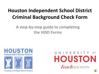 Houston Independent School District Criminal Background Check Form