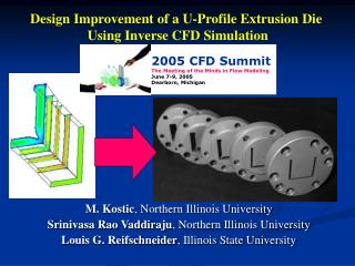 Design Improvement of a U-Profile Extrusion Die  Using Inverse CFD Simulation